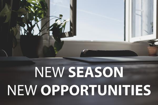 new season new opportunities